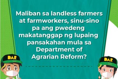 Ang mga karagdagang batayan upang maging isang agrarian reform beneficiary sa ilalim ng Comprehensive Agrarian Reform Program (CARP).