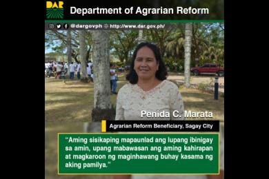 Maginhawang buhay kasama ang pamilya ang inspirasyon sa pagsisikap ni Aling Penida, isa sa mga benipisyaryo ng Repormang Pansakahan.