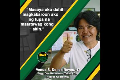 Mas marami pa ang gaya ni Aling Venus na mabibigyan ng lupa sa Negros Occidental dahil simula pa lang ito ng pamamahagi ng CLOA sa probinsya.