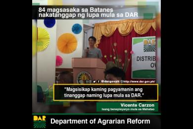 Desidido si Mang Vicente na lalo pang pag-ibayuhin ang pagtatrabaho sa bukid lalo't napasakamay na niya ang titulo ng lupa mula sa DAR.