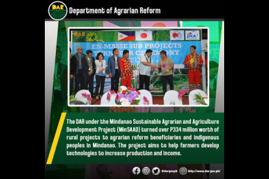 Agrarian Reform Secretary John R. Castriciones said that these projects are significant in achieving progress in rural communities. These were implemented not only to make life easier for farmers but also to sustain the development of their communities.