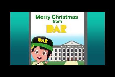 DAR Christmas greetings from DARwin and DARla.