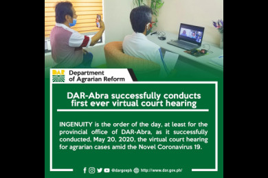 DAR-Abra created official electronic mail (email) account where all parties concerned could submit their electronic filing of petitions, manifestations, evidence, and other legal documents.