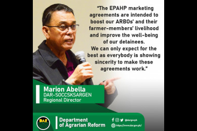 """The Bureau of Jail Management and Penology has recognized the need to help strengthen the farming sector when it opens itself up as a marketing outlet for farmers products through the much ballyhooed """"Enhanced Partnership Against Hunger and Poverty."""""""