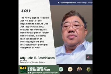 Congress eases burden of agrarian reform beneficiaries.