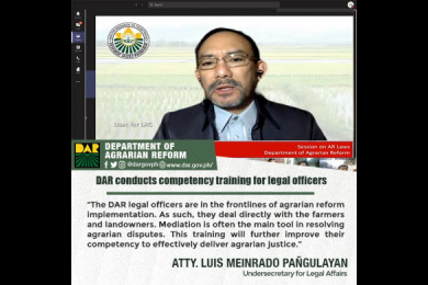 The DAR is using mediation in resolving agrarian disputes arising from the barangay, municipal, provincial, regional and at the central office level.