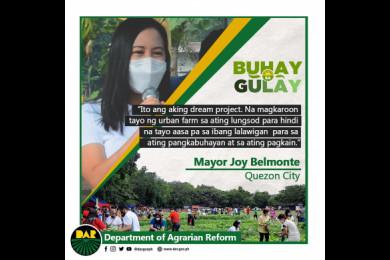 """Inilunsad ng DAR at ng pamahalaan ng Quezon City ang ikalawang proyekto ng """"Buhay sa Gulay"""" noong January 8, 2021, at itinakda nila ang unang pag-aani sa Pebrero 14, 2021."""