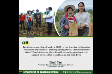 """DAR Sec. Bro. John R. Castriciones has announced the expansion of coverage of the CARP to include not only legitimate ARBs, but also, graduates and now previous DAR employee retirees """"for as long as they are graduates of any agriculture-related courses."""""""