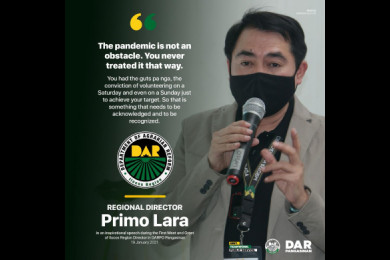 RD PRIMO VISITS AND COMMENDS DAR PANGASINAN