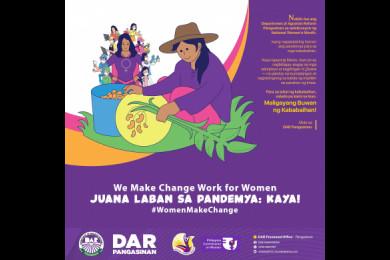 DAR Provincial Office ng Pangsinan Nakiki-isa sa Selebrasyon ng Buwan ng Kababaihan