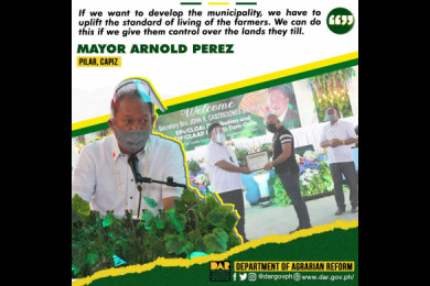 Aside from the Nemesio Tan landholdings, the DAR also distributed 209.94 hectares of private agricultural lands from the towns of Maayon, Panay, Panitan, Pontevedra, Pres. Roxas and Tapiz.