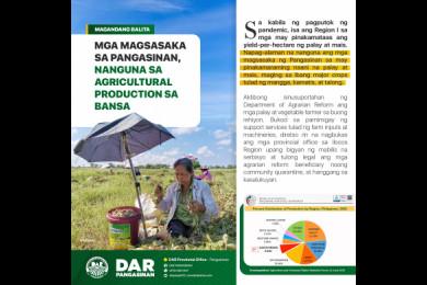Mga magsasaka sa Pangasinan, nanguna sa Agricultural Production sa bansa