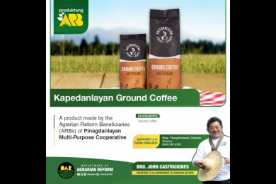 Kape Danlayan coffee is grown in the mystical mountain of Mt. Banahaw where the climate is always cool and the soil is rich. Grab a pack and enjoy Kape Danlayan now. Contact Pinagdanlayan Multi-purpose Cooperative Tel. No.: (042) 565 6363.