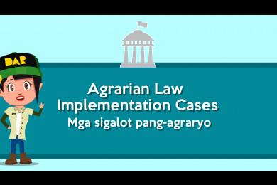Anu-ano ang mga uri ng sigalot pang-agraryong administratibo na itinuturing na Agrarian Law Implementation (ALI) cases?