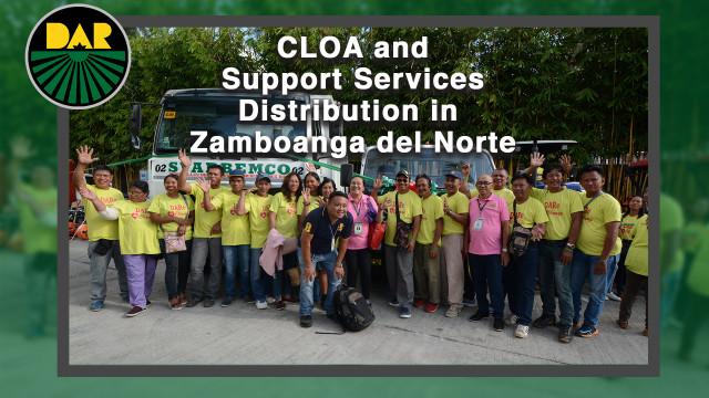 Pamamahagi ng CLOA sa Zamboanga Peninsula.