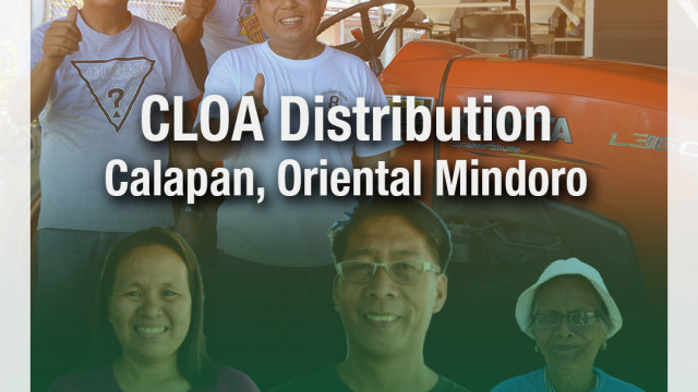 CLOA distribution in Calapan, Oriental Mindoro.