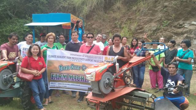 Agrarian Reform Beneficiaries Receive Farm Machineries