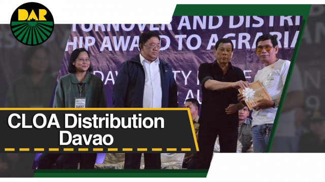Duterte distributes 102,727 hectares of agri lands in Mindanao.