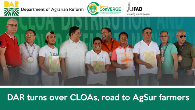 DAR turns over CLOAs, road to AgSur farmers.