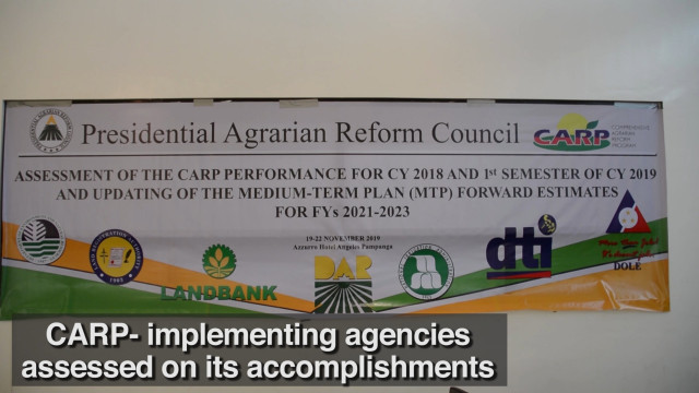 CARP-implementing agencies assessed on its accomplishments.