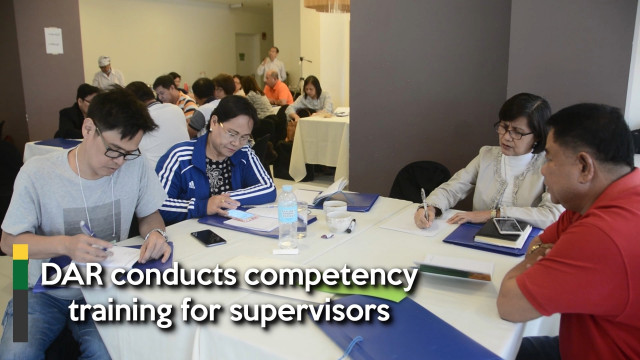DAR conducts competency training for supervisors.