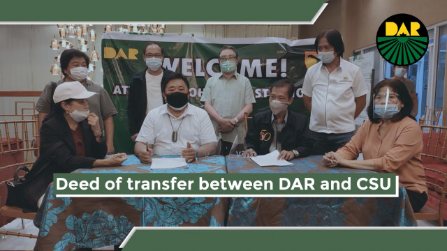Cagayan State University donates 622 has. of agri lands to agrarian reform beneficiaries.