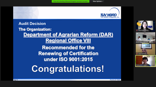 DAR-8 maintains QMS, gets ISO recertification