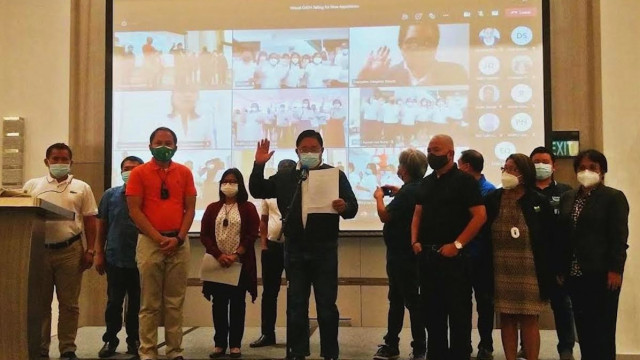 Castriciones administers virtual oath-taking of 64 DAR-Caraga personnel