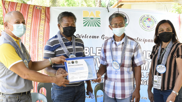 A remote barangay in Panabo City is recipient of potable water project from DAR