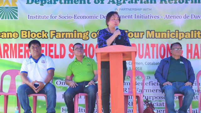 142 North Cotabato ARBs complete farmers' field school on sugarcane production
