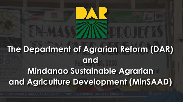 DAR turns over P324-M agri-projects in Mindanao.