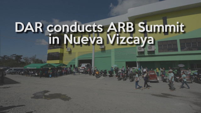 Agricultural lands, P5.4 million-worth farm machineries, equipment and inputs distributed by DAR in Nueva Vizcaya.