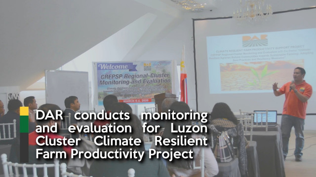 DAR conducts monitoring and evaluation for Luzon Cluster Climate Resilient Farm Productivity Project.