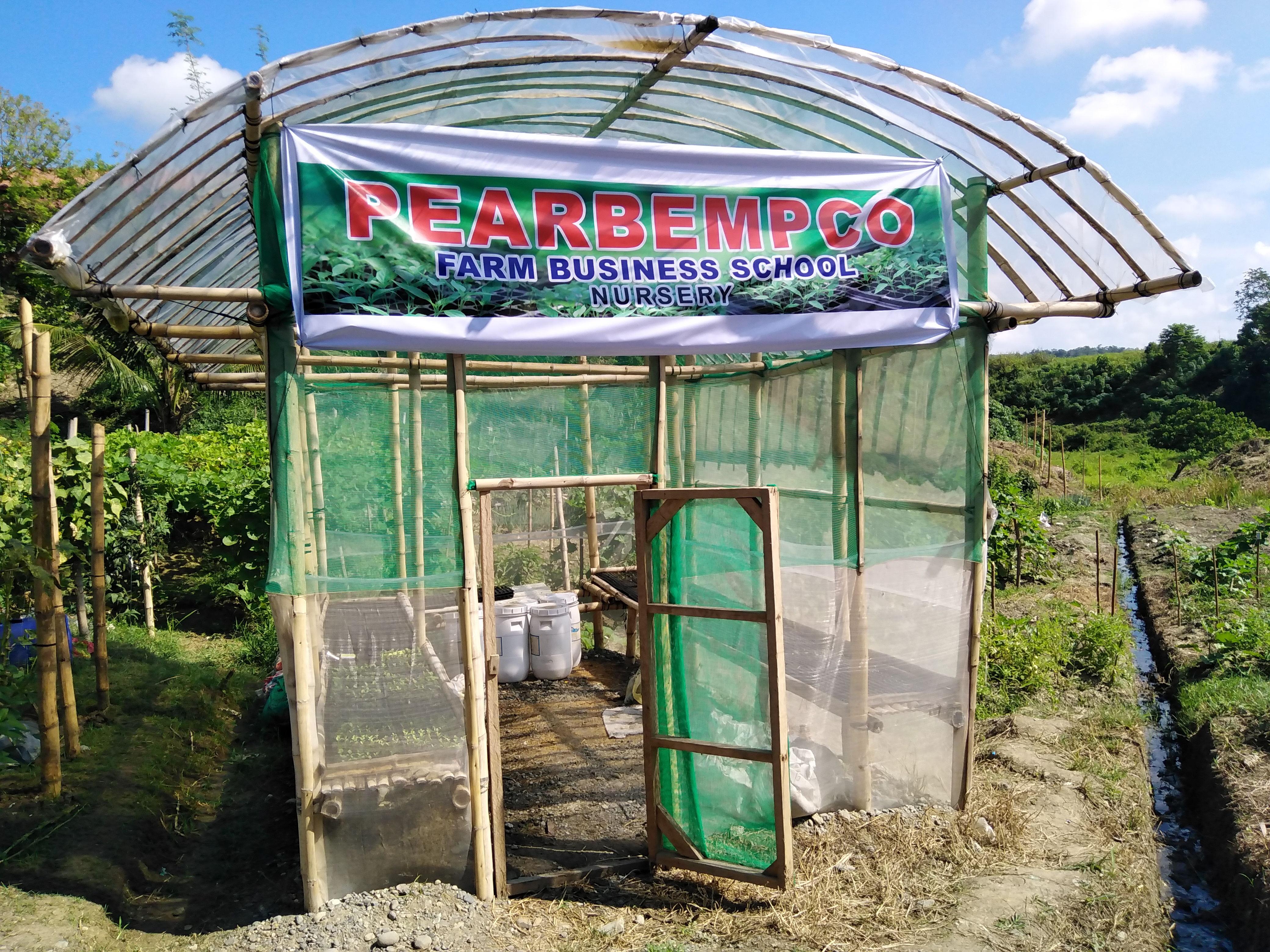 The vegetable nursery which was initiated by DAR and completed by PEARBEMPCO solely intended for the FBS Students